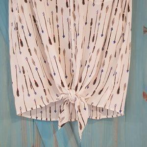 Joie Tops - Joie Edalette tie-front sleeveless blouse L